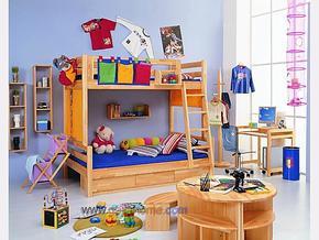 星星索双层床 环保家具 全实木双层床 组合楼梯床 高低床
