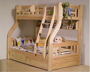 包邮实木儿童床上下铺高低床松木双层床子母床货到付款木质江苏