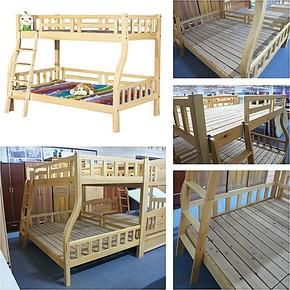 ST-72#纯松木儿童床 实木子母床 双层床 木架床 木质高低床上下床