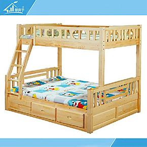 实木儿童床上下床高低床子母床母子床铺双层床松木组合木质江苏