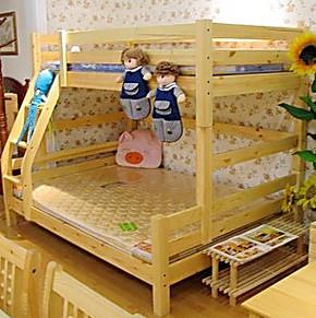 包邮儿童实木床/双层床/上下床/子母床/高低床/组合床下铺木质