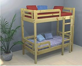 新儿童原木双层床拆装式床SYH-0135松木上下床简约木质安全高低床