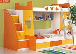 儿童家具 儿童床1.35米双层床 高低床 上下床 子母床 组合床包邮