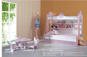 儿童家具 儿童床 1.35米双层床 高低床 子母床 上下床 组合床包邮
