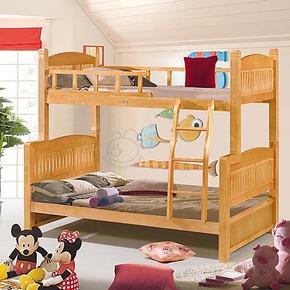 田园实木床子母床上下双层床儿童床小孩宝宝组合床高低床特价313