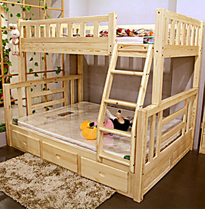 特价包邮刷漆实木床儿童床松木床双层床上下床子母床高低床小孩床