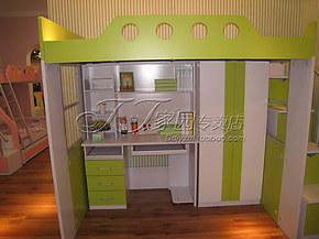 特价多功能儿童衣柜书桌床上下床书柜书架组合床高低1.2米床HL