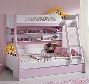 儿童彩色 公主高低床 上下床 双层床 子母床 多喜爱你 特价包邮