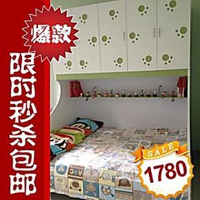 儿童彩色 趟门衣柜床 王子公主子母床 高低床 多喜爱你 特价包邮