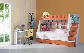 小户型儿童家具 儿童床 儿童双层床 高低床 多功能上下床组合床