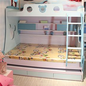 未来之窗6142儿童家具高低床公主床上下床楼梯柜儿童床子母床