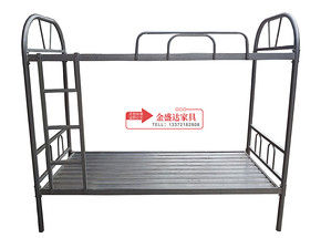 苏州校用双层铁床 双层铁床学校用品学生床员工床高低床上下铺床