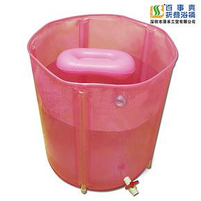 出口加厚版折叠浴桶 免充气浴缸 塑料小孩泡澡洗澡 儿童大人浴盆