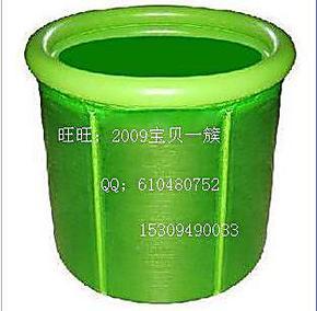 豪华折叠浴桶 浴缸充气浴盆塑料浴缸70*70圈桶分离送充气筒