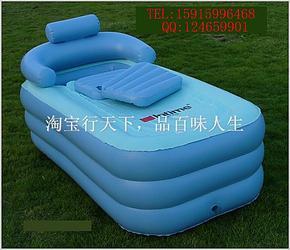 现货,INTIME充气浴缸充气浴池加长型保暖浴缸 游泳池带排水管