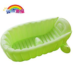 曼波鱼屋 婴儿充气浴盆宝宝浴盆 儿童充气浴缸 加厚加高 超大