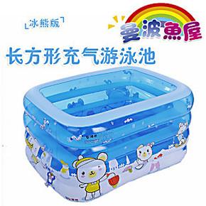 曼波鱼屋婴儿游泳池/婴幼儿浴缸/儿童洗澡筒--超大长方形充气款