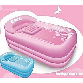 【皇冠特价】曼波鱼屋成人游泳池 浴缸 方形充气款 送电动气泵