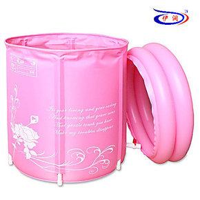 伊润 充气浴缸 环保 折叠浴桶 成人浴盆 洗澡桶 中药沐浴桶 65*70