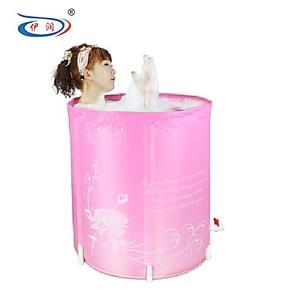 伊润 出口环保认证 尼龙布折叠浴桶沐浴桶 充气浴缸 非木桶 包邮