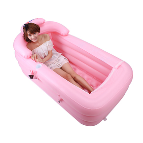 利鑫 加厚充气浴缸成人浴盘保暖折叠浴缸塑料洗澡盆沐浴桶 包邮