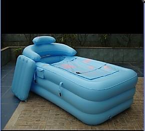 特价 利鑫优质成人折叠加厚保温充气浴缸 沐浴桶泡澡桶送电泵