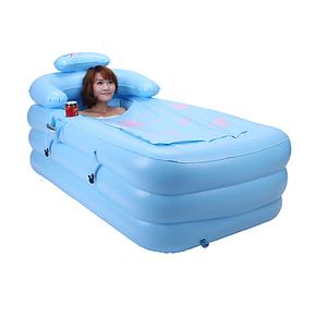 利鑫 加厚充气浴缸成人浴盘保暖折叠浴缸塑料洗澡盆特价 送礼包