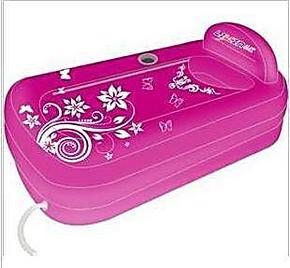 利鑫加厚折叠充气浴缸 泡澡沐浴桶 生活澡桶套装保暖卫浴创意用品