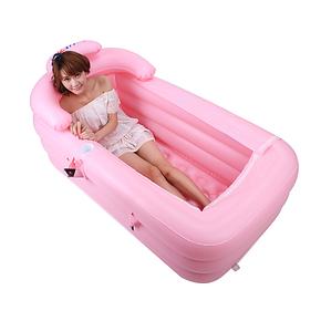 利鑫加厚充气浴缸 成人浴盘保暖折叠浴缸塑料洗澡盆万圣节特价