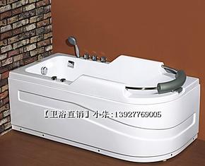 特价!舒适头枕 /1.6米纯亚克力浴缸/冲浪浴缸/按摩浴缸/YG1608