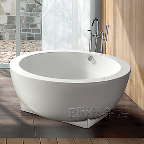 1.5纯亚克力宽边圆形浴缸 独立式压克力落地泡澡缸 浴缸特价8868