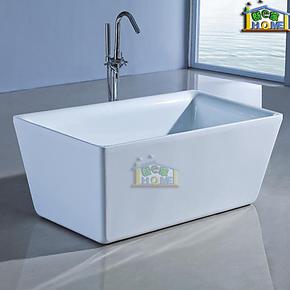 长方形1.6米整体独立式浴缸 压克力/亚克力浴缸 不加冲浪按摩172