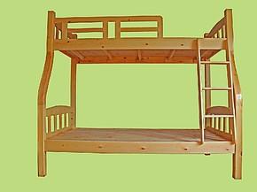 实木松木子母床母子床高低床双层床上下床午托床环保儿童床