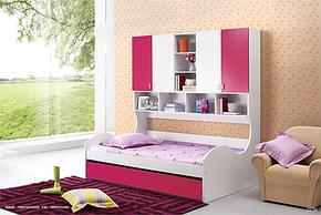 烤漆双层床 带衣柜床 拖抽 三抽子床 高低床 儿童床 829