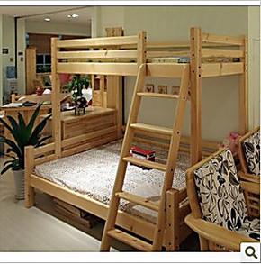 儿童双层实木床 松木子母床 儿童高低床 实木上下床 实木床 特价