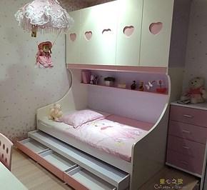 促销 儿童彩色衣柜床 公主王子高低床 上下床 多喜爱你 特价包邮