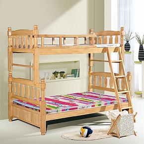 橡木床实木床实木儿童床子母床橡木子母床高低床母子床双层床包邮