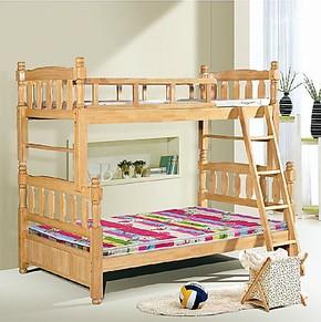橡木床实木床实木儿童床子母床橡木子母床高低床母子床双层床
