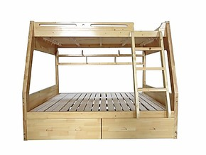 实木儿童床韩式子母床橡木双层床田园高低床实木上下床松木母子床