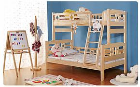 东方森林 全实木芬兰松儿童床双层床上下子母床高低可拆分堡王国