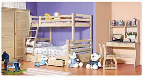 东方森林全实木芬兰松儿童床双层床上下子母床高低可拆分堡王国