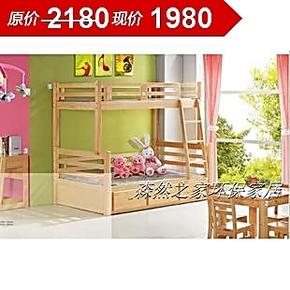 儿童房家具/实木子母床/儿童上下铺/松木抽屉高低床/厦门松木家具