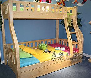 木质子母床 高低床 儿童双层床 上下铺床 高低床母子床 两层床