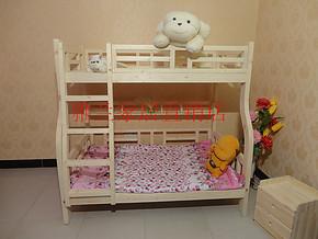 实木儿童床上下床高低子母床亲子高低铺松木双层床带书桌带衣柜床