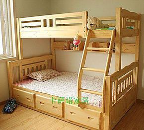 高档松木儿童床/实木床儿童/上下床双层床/高低床/实木子母床/
