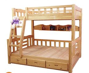 上下床 儿童双层床 上下铺 实木高低床 字母床 双层童床 两层床