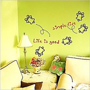 圣诞铃客厅卧室壁柜儿童房沙发墙走廊窗台床头可移除背景墙贴壁纸