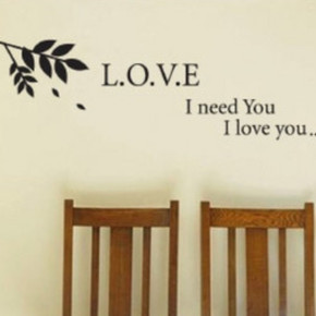 S364爱的小枝/墙贴/浪漫温馨卧室客厅沙发电视壁柜背景壁纸玄关贴