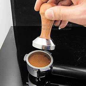 包邮 实木不锈钢压粉锤 意式咖啡机专用压粉锤 51mm摩卡壶压粉器