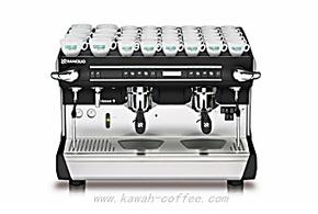 原装进口兰奇里奥Rancilio CLASSE9双头电控意式半自动咖啡机商用
